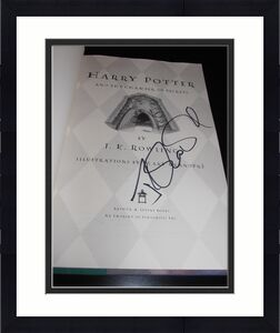 Jk Rowling Signed Autograph Harry Potter And The Chamber Of Secrets Book Coa X5