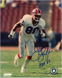 James Lofton Buffalo Bills Autographed 8'' x 10'' Running Photograph with HOF 03 Inscription - Mounted Memories
