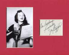 Jo Signed Picture - Stafford Jazz Big Band You Belong to Me Singer Display