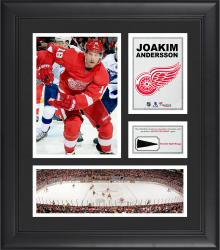 """Joakim Andersson Detroit Red Wings Framed 15"""" x 17"""" Collage with Piece of Game-Used Puck"""