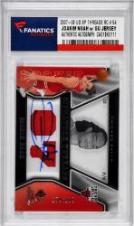 Joakim Noah Autographed with Game Used Jersey Pieces 2007-08 Upper Deck SP Rookie Threads RC #54 Card