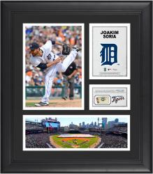Joakim Soria Detroit Tigers Framed 15'' x 17'' Collage with Piece of Game-Used Ball
