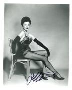 JOAN COLLINS HAND SIGNED 8x10 PHOTO+COA       YOUNG+GORGEOUS+SEXY POSE
