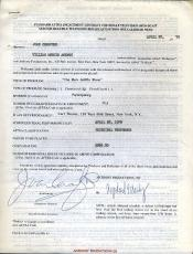 Joan Crawford Jsa Certed Signed 1970 Contract Authentic Autograph