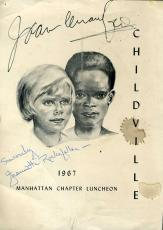 Joan Crawford Jsa Signed 8x10 Photo Program Authenticated Autograph