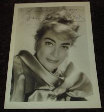 Joan Crawford-Rare-Signed-5 x 7-Photo-PSA-DNA-Coa!