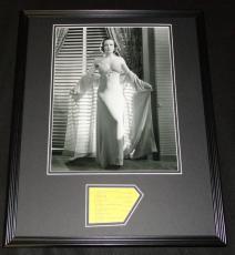 Joan Crawford Signed Framed 16x20 Photo Poster Display JSA