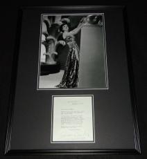 Joan Crawford Signed Framed 18x24 1973 Letter & Photo Display
