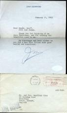 Joan Crawford Signed Jsa Certified Letter Authenticated Autograph