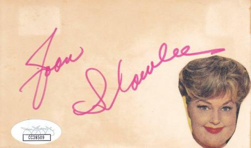 JOAN SHAWLEE d 1987 Signed 3x5 Index Card Actress/Some Like it Hot JSA CC38509