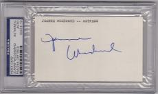 Joanne Woodward Actress signed 3x5 Index Card PSA/DNA Slabbed Paul Newman Wife