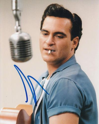 JOAQUIN PHOENIX signed (WALK THE LINE) Movie 8X10 photo *Johnny Cash* W/COA #1
