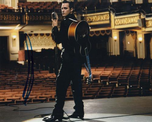 JOAQUIN PHOENIX signed (WALK THE LINE) Movie 8X10 photo *Johnny Cash* W/COA #2