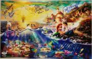 JODI BENSON Christopher Barnes PAT CARROLL Little Mermaid Signed 11x17 Print PSA