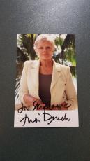 Dame Judi Dench-signed photo - coa - 12