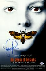 "Jodie Foster Autographed 12"" x 18"" Silence of the Lambs Movie Poster - PSA/DNA"