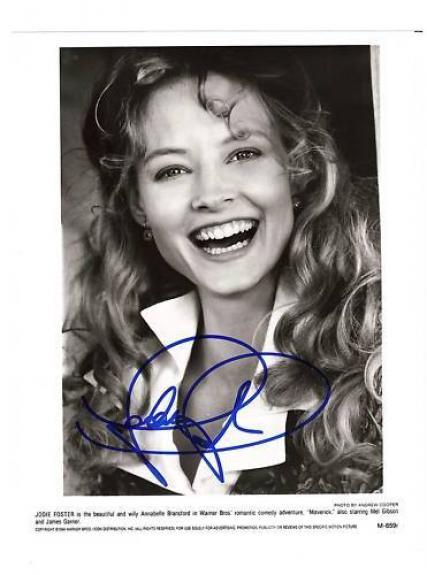 Jodie foster-signed photo-10 - JSA