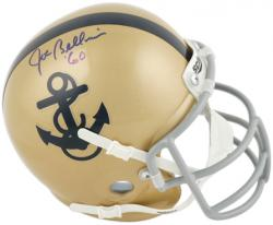 Joe Bellino Navy Midshipmen Autographed Mini Helmet with '60 Inscription - Mounted Memories
