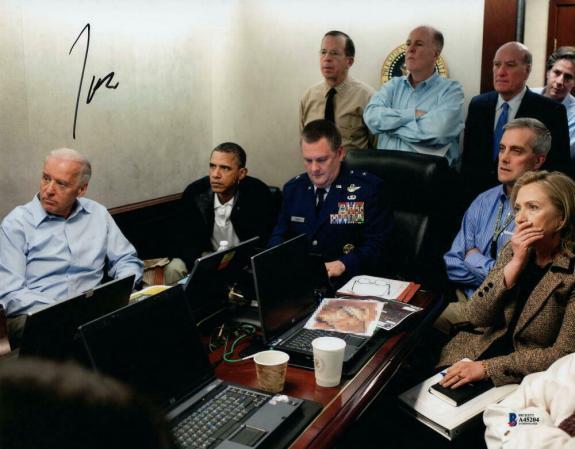 President Joe Biden Signed Autograph 11x14 Photo Bin Laden Raid War Room Beckett