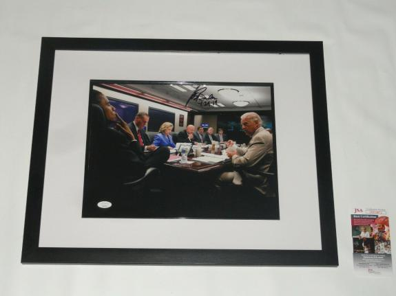Joe Biden Signed Framed & Matted 11x14 Situation Room Photo Barack Obama Jsa Coa
