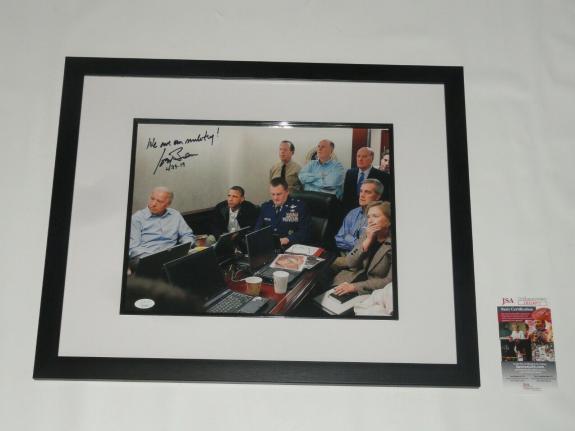 Joe Biden Signed Framed & Matted 11x14 War Room Photo 2020 President Jsa Coa