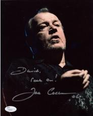 JOE COCKER HAND SIGNED 8x10 PHOTO     ROCK AND ROLL LEGEND      TO DAVID     JSA