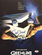 Joe Dante And Zach Galligan Signed Gremlins 11x14 Photo PSA AC45598