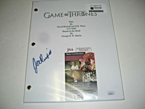 Joe Dempsie Game Of Thrones Jsa/coa Signed Full Pilot Episode Script