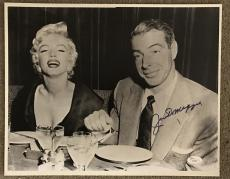 Joe DiMaggio Rare Signed Vintage Marilyn Monroe 11x14 Photo