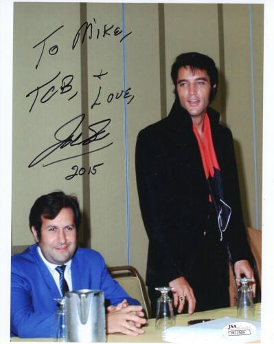 JOE ESPOSITO HAND SIGNED 8x10 COLOR PHOTO     ELVIS PRESLEY     TO MIKE     JSA