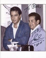 JOE ESPOSITO HAND SIGNED 8x10 COLOR PHOTO+COA      WITH ELVIS PRESLEY     TO BOB
