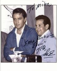 JOE ESPOSITO HAND SIGNED 8x10 COLOR PHOTO+COA      WITH ELVIS PRESLEY    TO MIKE