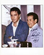 JOE ESPOSITO HAND SIGNED 8x10 PHOTO     GREAT POSE WITH ELVIS PRESLEY        JSA