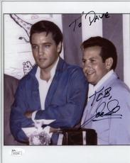 JOE ESPOSITO HAND SIGNED 8x10 PHOTO    RARE POSE+ELVIS PRESLEY    TO DAVE    JSA