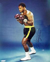 Joe Frazier Autographed 16'' x 20'' Mean Look Photograph - Mounted Memories