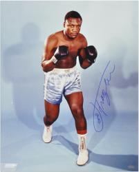 """Joe Frazier Autographed 16"""" x 20"""" Stance Photograph"""