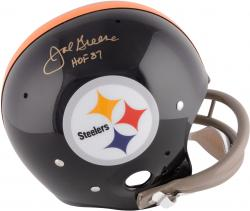 Joe Greene Pittsburgh Steelers Autographed Black TK Suspension Helmet with HOF 87 Inscription