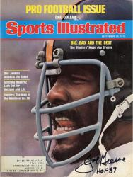 """Joe Greene Pittsburgh Steelers Autographed Sports Illustrated """"Big, Bad and the Best"""" Magazine with HOF 87 Inscription"""