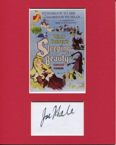 Joe Hale Sleeping Beauty Disney Animator Artist Signed Autograph Photo Display