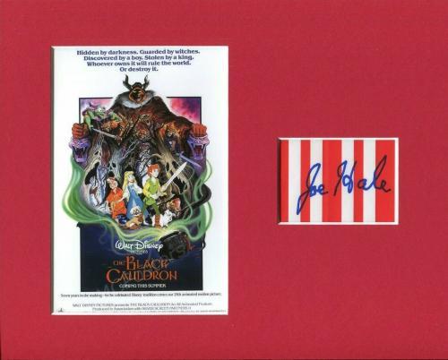 Joe Hale The Black Cauldron Disney Writer Artist Signed Autograph Photo Display