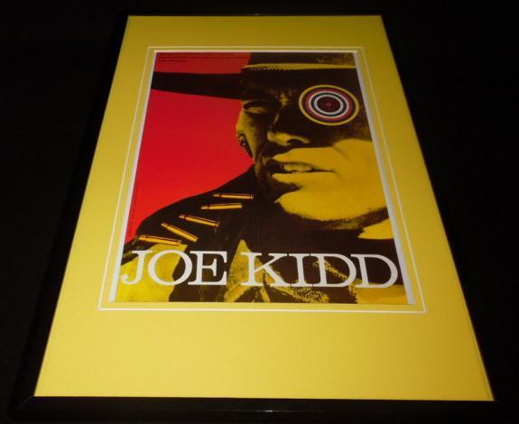Joe Kidd Czechoslovkian 11x17 Framed Repro Poster Display Clint Eastwood