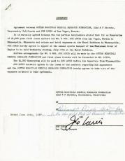 Joe Louis Signed 8.5X11 1977 5 Page Hospital Document PSA/DNA #V03054