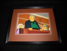 Joe Mantegna Signed Framed 8x10 Photo AW Simpsons Fat Tony