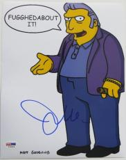 Joe Mantegna Signed Simpsons Authentic Autographed 8x10 Photo (PSA/DNA) #I72624