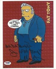 Joe Mantegna Signed The Simpsons 8x10 Photo PSA/DNA COA Fat Tony Picture Auto'd