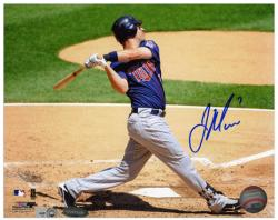 "Joe Mauer Minnesota Twins Autographed 8"" x 10"" Grass Background Photograph"