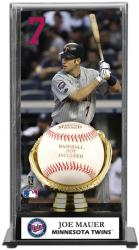 Joe Mauer Minnesota Twins Baseball Display Case with Gold Glove & Plate