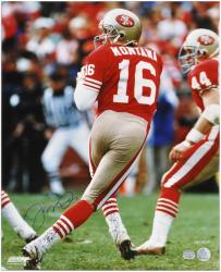 San Francisco Joe Montana 49ers Autographed 16'' x 20'' Photo - Mounted Memories