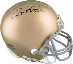 Joe Montana Notre Dame Fighting Irish Autographed Mini Helmet - Mounted Memories