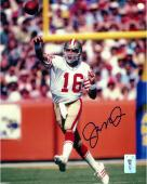Joe Montana San Francisco 49ers Autographed 8'' x 10'' Passing Photograph - Mounted Memories